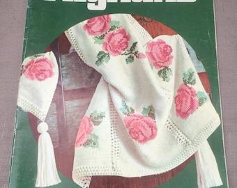 Vintage Afghans Columbia-Minerva Crochet Pattern Book 742 17 Patterns Afghan Crochet 1970s