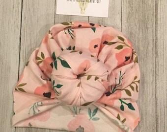 Pink Floral Turban