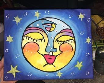Luna Pacífica Painting