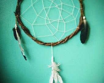 Large Cruelty-Free Minimalist Dream Catcher, handmade native American art Religion Protect Healing Nightmares Cure Magic Original