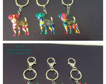 Beautiful Keychain dog enamels