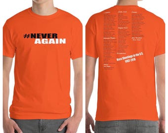 Never Again March for Our Lives Unisex T-shirt Gun Control Political Tee Enough is Enough Tee