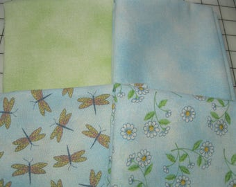 Cotton Quilting Fabric - Four Pieces