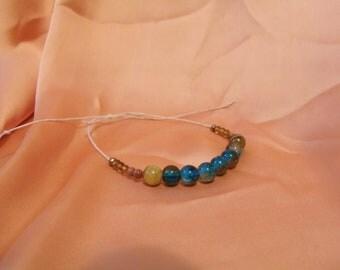 Copper and Cobalt - Beaded Bracelet