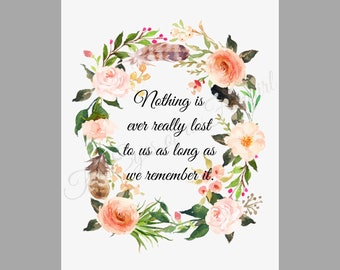 Anne of Green Gables Inspired Quote Art Print