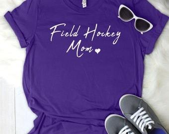 Field Hockey Mom Women's T Shirt UNISEX Bella Canvas Soft Style Motherhood #momlife ladies shirt mom life sports mom