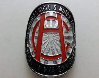 Vintage head badge emblem Hercules NOS