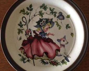 Vintage 1960's-1970's Doverstone and Staffordshire Pottery featuring nursery rhymes little Bo Peep