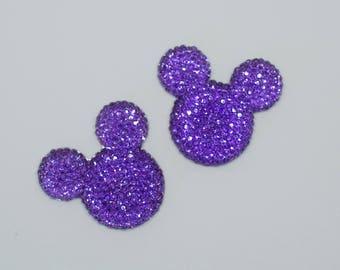 Disney Inspired Mickey Head Embellishments (multiple colors)