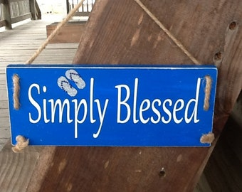 Simply blessed plaque
