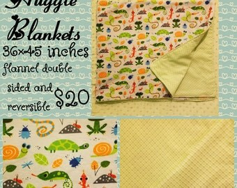 Bugs and reptiles blanket