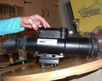 NIght vision PVS-2 Starlight scope.  Cascade tube with early Gen III quality!