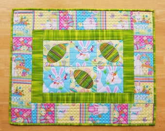 Quilted Colorful Easter Table Runner Mat
