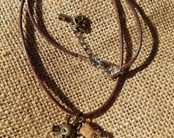 Pirate's Skull and Booty necklace