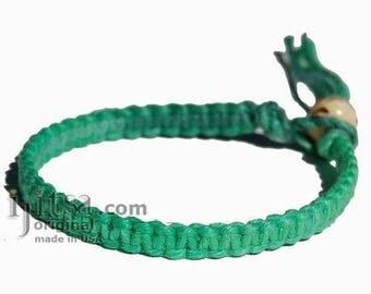 Rainbow Green Hemp Surfer Bracelet or Anklet