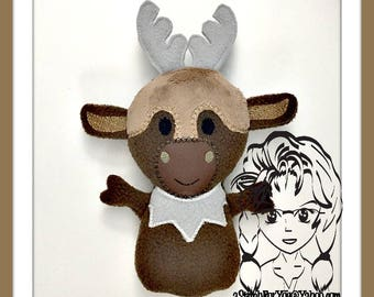 MOOSE Frozen ~ 3D Plush Softie Toy ~ In the Hoop ~ Downloadable DiGiTaL Machine Embroidery Design by Carrie