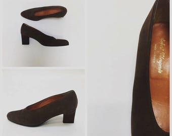 70s ROBERT CLERGERIE HiGH CUT Pumps-7.5