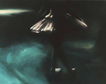 Original Small Ballet Painting, Ballet Dancer, Canvas Art