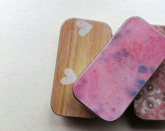 Trio of mini keepers. . .tie dye, hearts, and flowers with swirls.