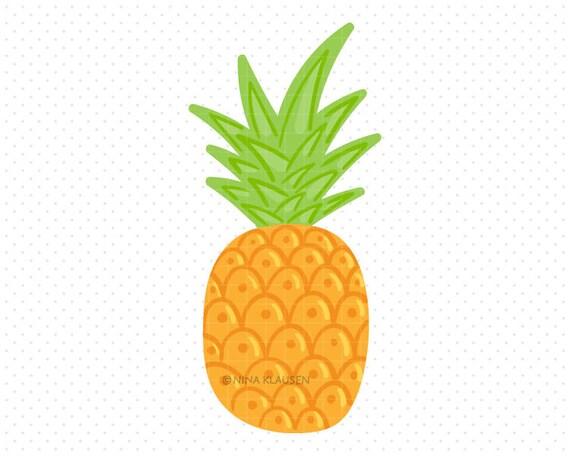 Doodle Pineapple Clip-Art / Single Fruit Artwork / C0009