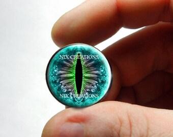 Glass Eyes - Dragon Glass Eyes Blue Green Taxidermy Doll Eyeballs Cabochons - Pair or Single - You Choose Size