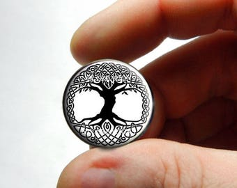Glass Cabochon - Celtic Tree of Life - for Jewelry and Pendant Making