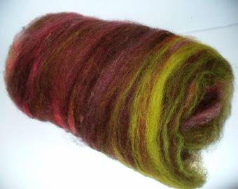 Wool Batt for Hand Spinning Yarn or Felting