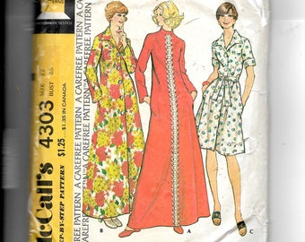McCall's Misses' and Women's Robe Pattern 4303