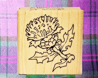 Small Scottish Thistle Rubber Stamp Icon of Scotland #408