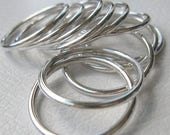 ON SALE TODAY Sterling Silver Stacking Rings Round Thick Wire Work in Shiny or Matte Finish