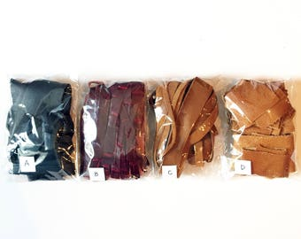 4-Pack Leather Scraps Craft Pack