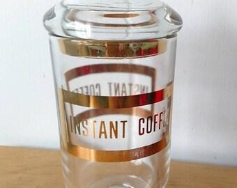 LOVE SALE vintage instant coffee glass jar