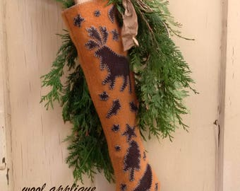 The Medway Stocking printed pattern