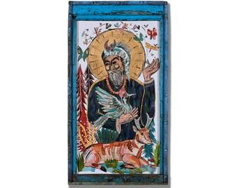 Saints Collage Series St. Francis Original Art
