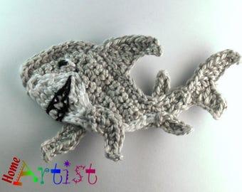 Shark  crochet Applique