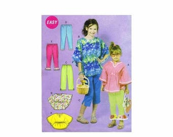 SALE Girls Tops Pants Leggings McCalls 6499 Sewing Pattern Size 7 - 8 - 10 - 12 - 14 UNCUT