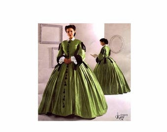SALE Civil War Dress Gown Costume Reenactment Simplicity 2887 Sewing Pattern Full Figure Size 16 - 18 - 20 - 22 - 24 Uncut