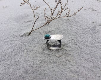 west ring with turquoise - size 6.5