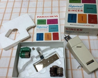 1/2 off Blowout Sale Singer Professional Buttonholer for Vintage low shank zig zag sewing machines.
