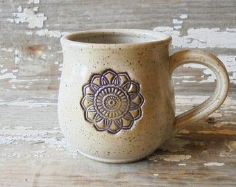 Mandala Mug - Handmade pottery mug - Tea Cup - Stoneware Mug - Coffee Cup - Meditation - Cozy