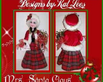 Mrs. Santa Claus Doll Pattern