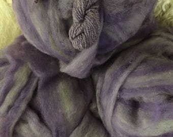 Wysteria - appx. 8 ounces - Wool and Mohair Roving