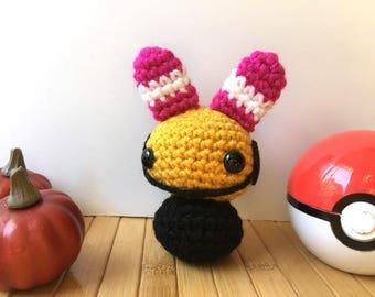 Chingling Moon Bun - Psychic Type Pokemon Bunny Rabbit Amigurumi Doll - 31 Amigurumi in October