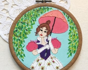 Embroidered Art Hoop - Haunted Mansion Tightrope Walker Disney