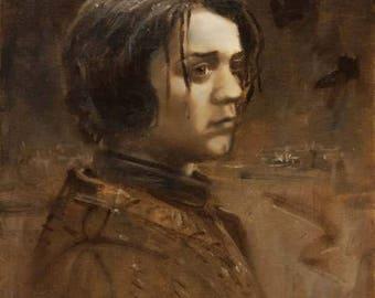 Arya Stark - Maisie Williams - Game of Thrones - Monochrome Portait