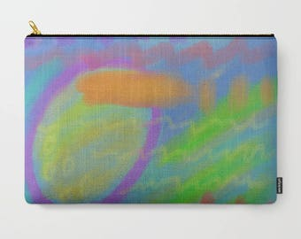 Colorful Abstract Art Clutch Bag Purse Carry All Pouch Accessories Bag Cosmetics Bag