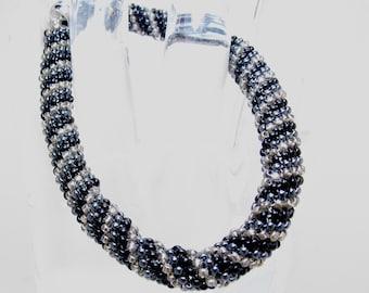 ClockWork/Peyote Bracelet/Bangle/Beaded Bracelet/Beadwoven Bracelet/Handmade Jewelry/Accessory/Girls Night Out/Gift for Her