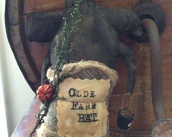 CustomerAppreciationSale Primitive Halloween Farm Bat ready to ship