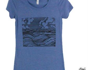 Women's Wave Tee Shirt