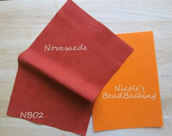 Novasuede Microfibor Fabric with Free Nicoles BeadBacking Burnt Orange NBO2